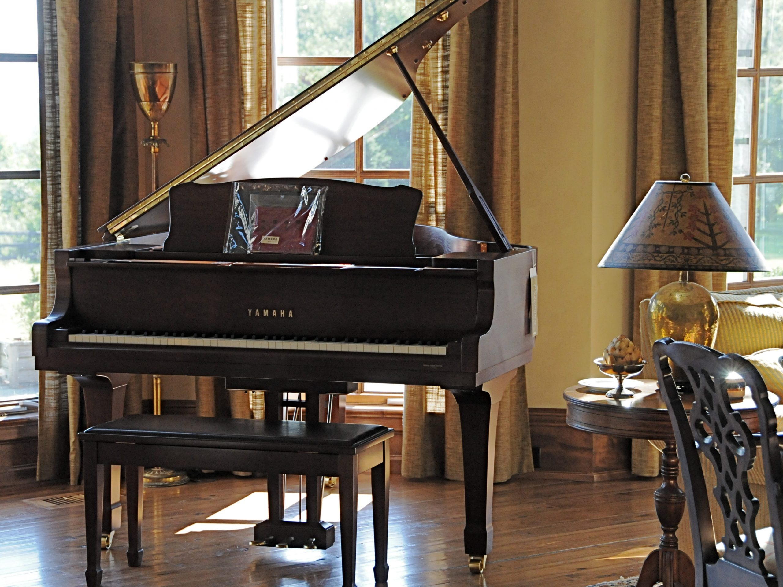 Grand piano that could be stored on its side