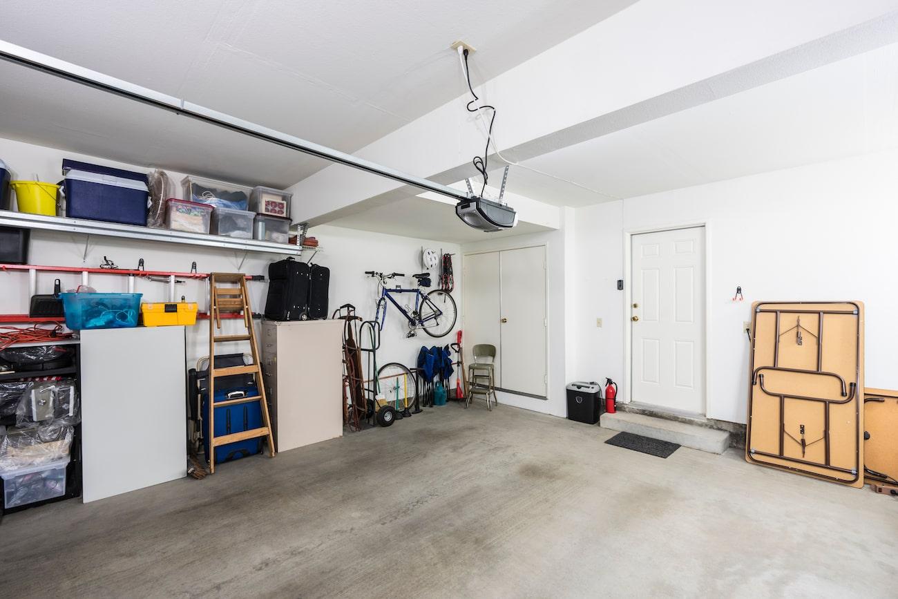 Residential garage inside