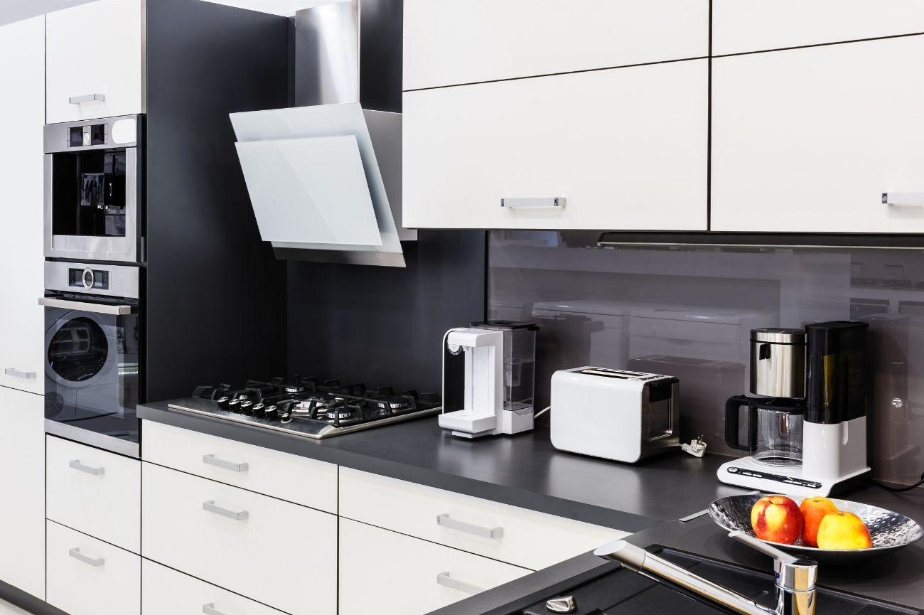 Appliances in modern kitchen