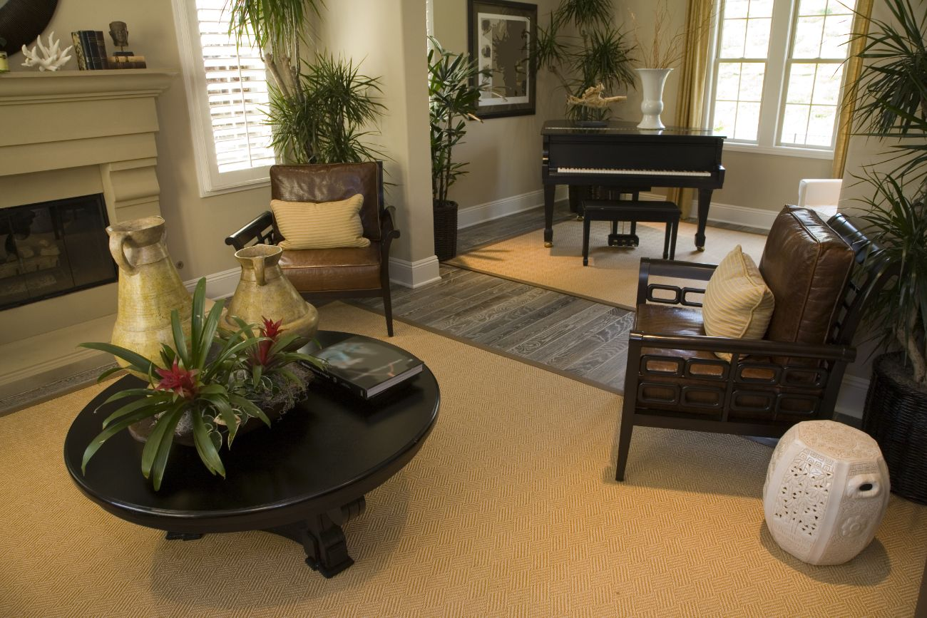 Piano in house living room