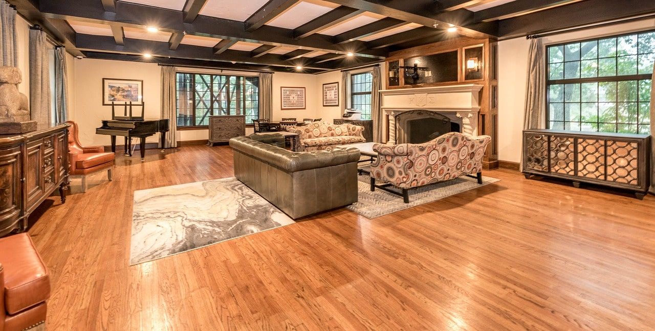 piano in living room layout