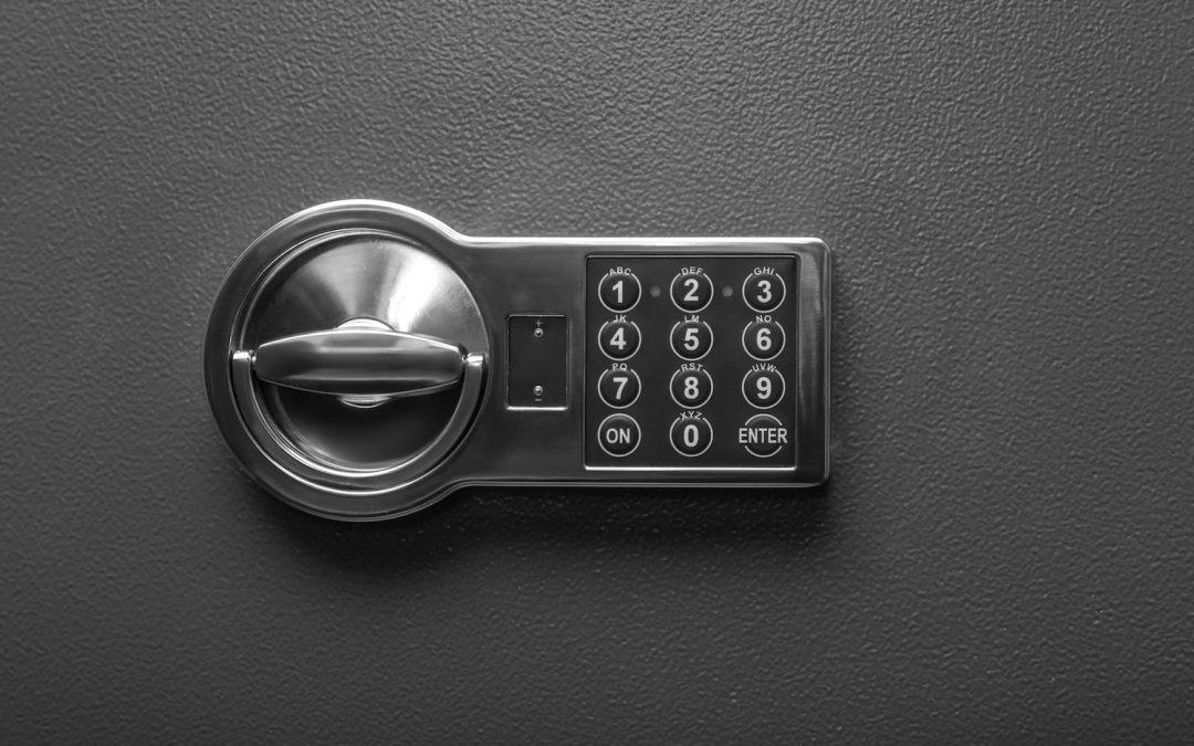 Keypad on a heavy safe