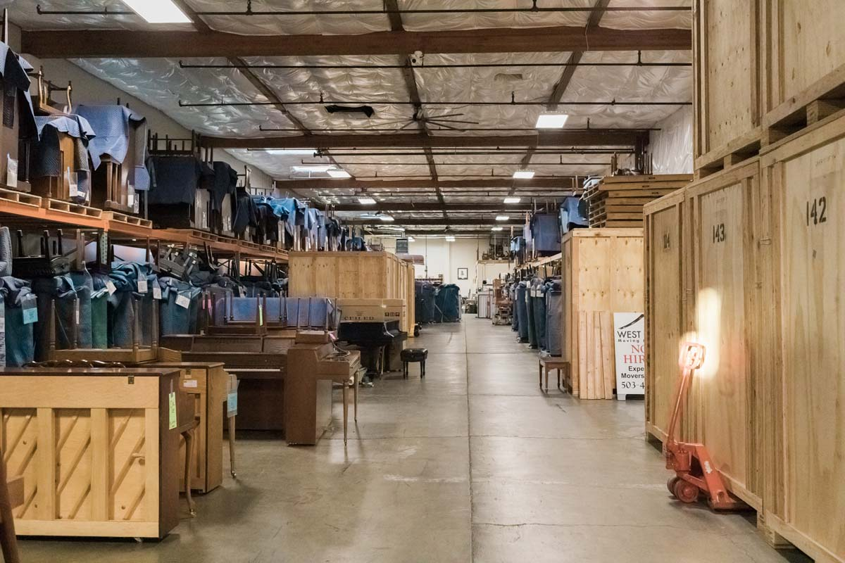 Industrial storage facility in Portland Oregon