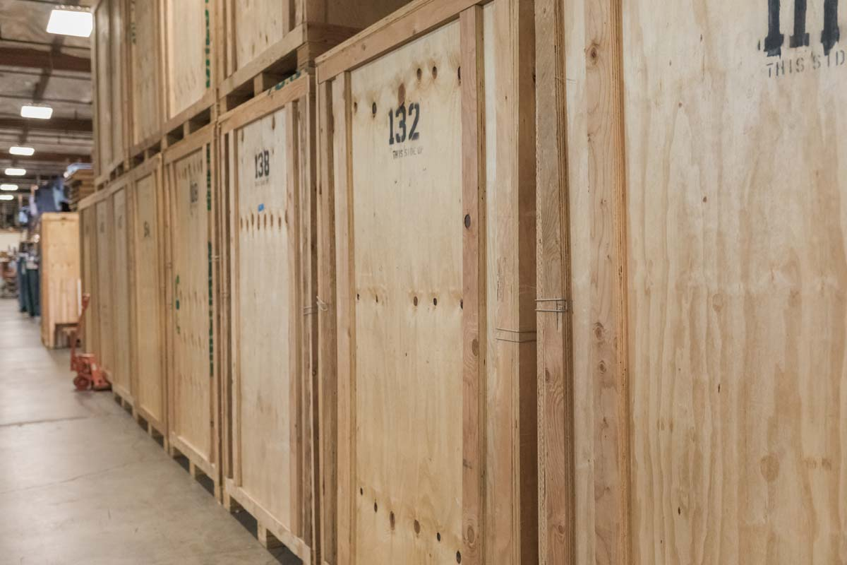 Wooden storage boxes in Portland
