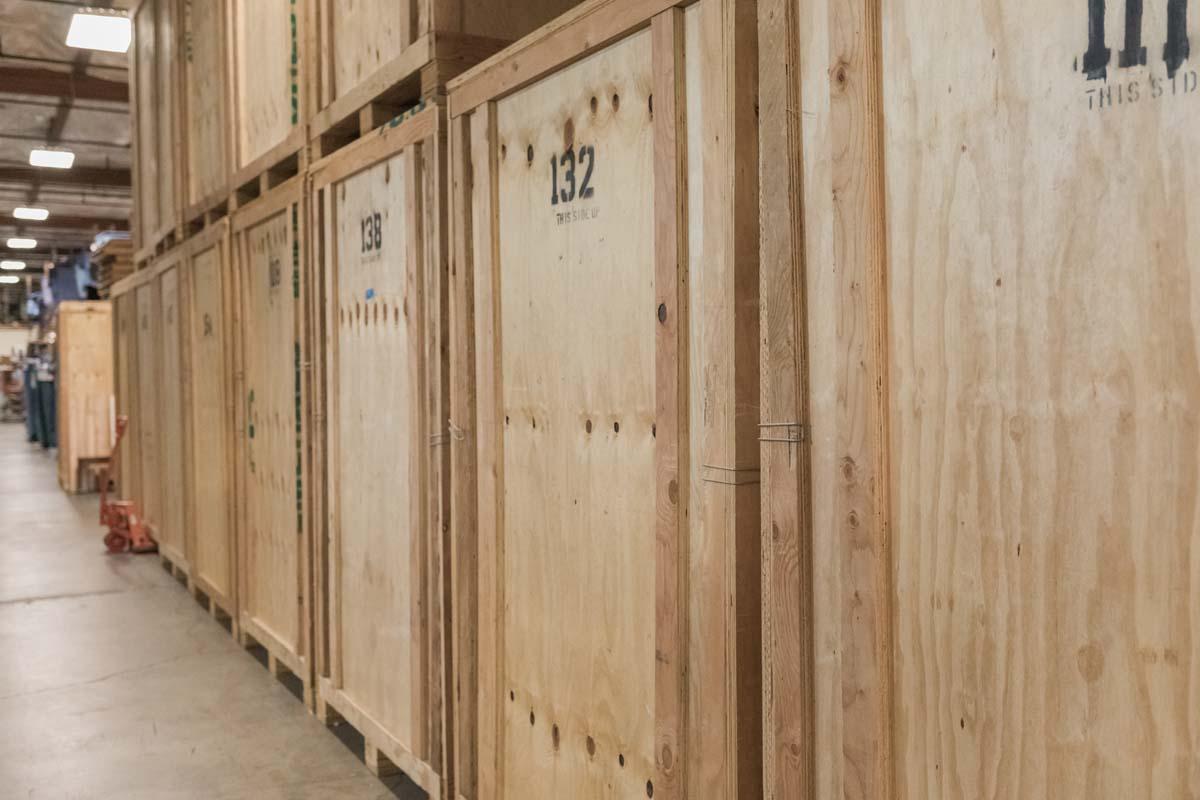 Wooden storage vaults in Portland