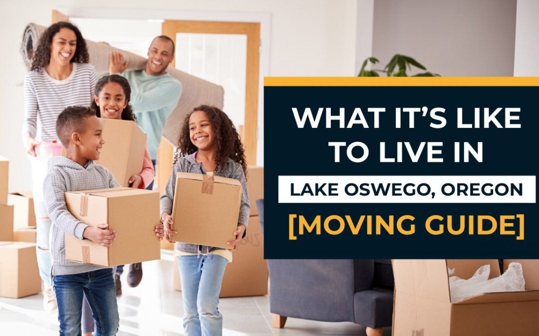 parents and children walking into a house with moving boxes
